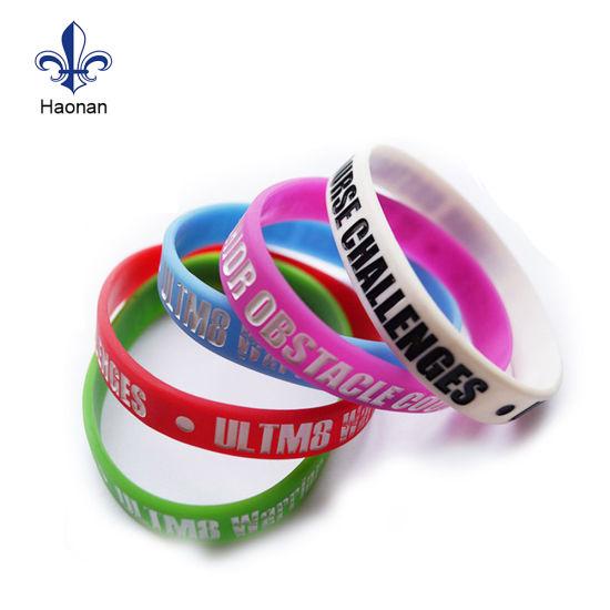 China Wholesale Promotional Custom High Quality Silicone Wristband