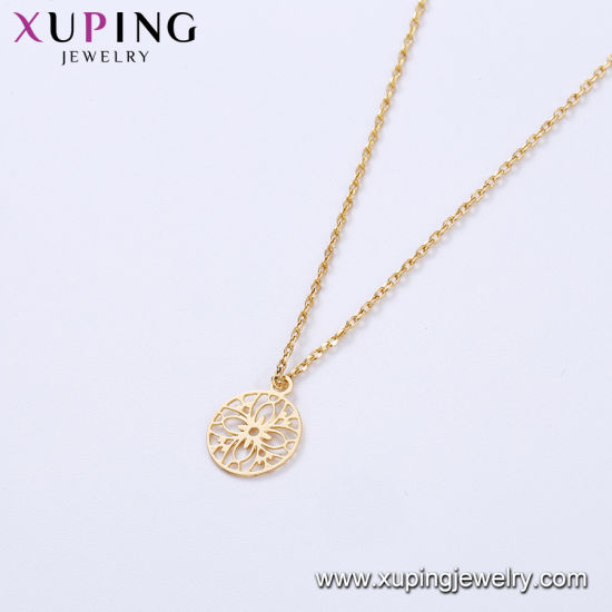 44401 Xuping Fashion 18K Gold Color Thin Necklace pictures & photos