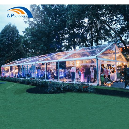 China Manufactory Clear Wedding Tent with Transparent Roof for Promotion pictures & photos