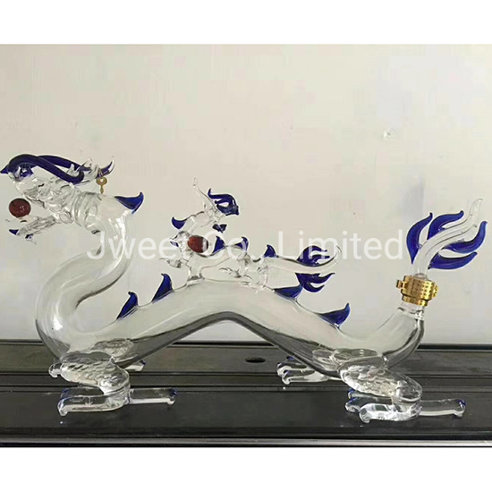750ml OEM Animal High Borosilicate Alcoholic Glass Bottle for Sake