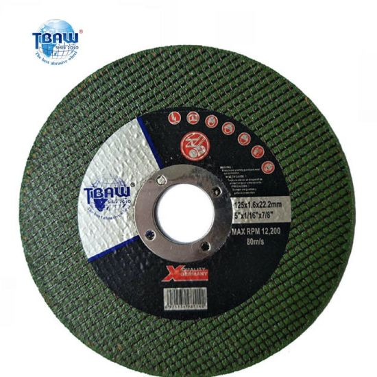 Factory OEM 5 Inch125*1.0*22mm Resin Bond Abrasive Polishing Cutting Wheels Disc for Metal Ss