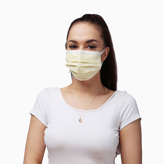3 Lay 50 Count Thick Anti Virus Protective Non Woven Earloop Disposable Mask for Adults