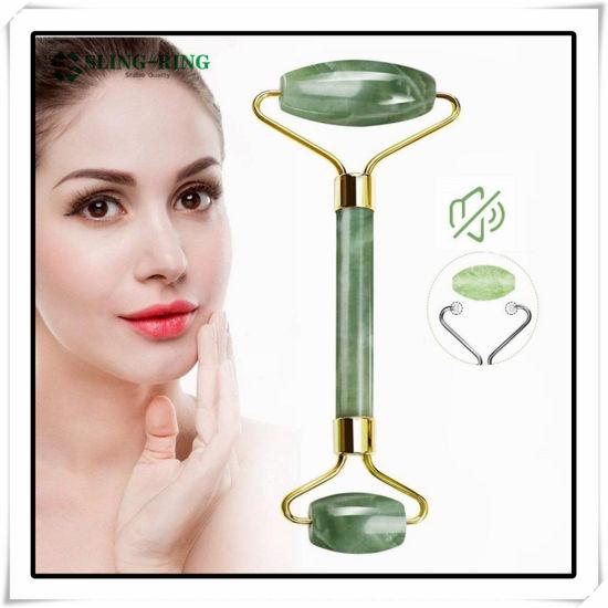Hot Sale Natural Jade Roller Jade Stone Gua Sha Board Tools Set Rose Quartz Board Face Massager Facial Roller Anti Aging Massage