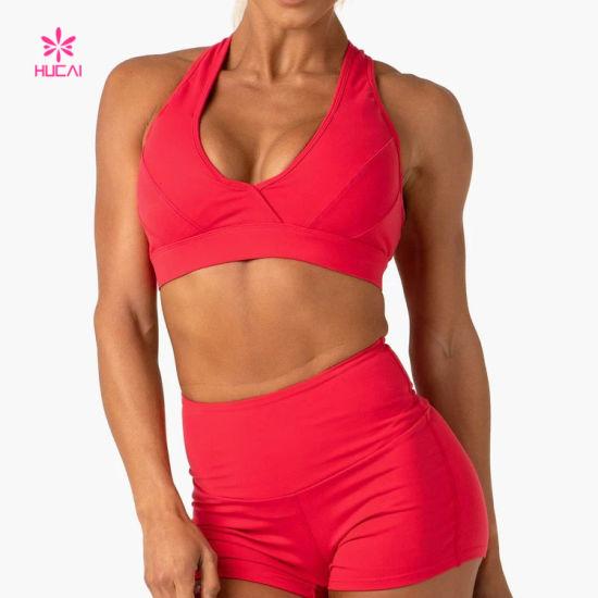 Wholesale Custom Logo Nylon Spandex Yoga Bra