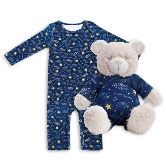 Boys and Girls Long Sleeve Pajama, Book & Plush Toy Set