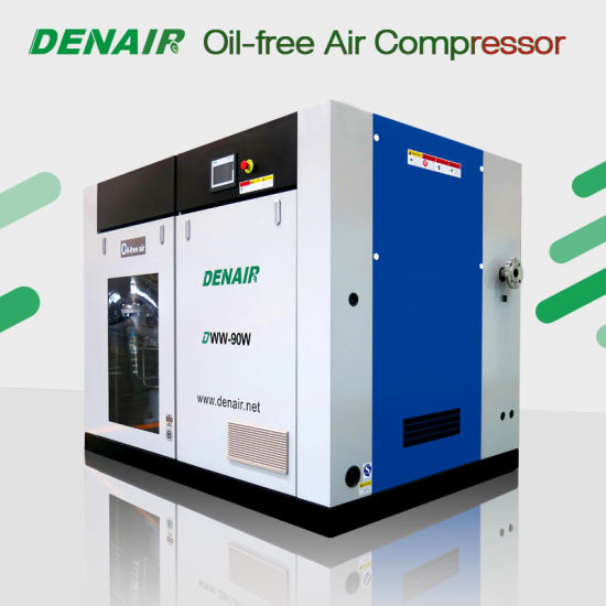 Industrial Silent/Mute Medical Dry Oil Free Oilless Direct Drive/Coupling Rotary Double Screw Type Air Compressor for Sale