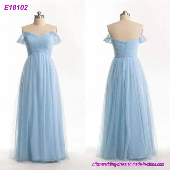 New Coming Top Quality Full Length Evening Dress