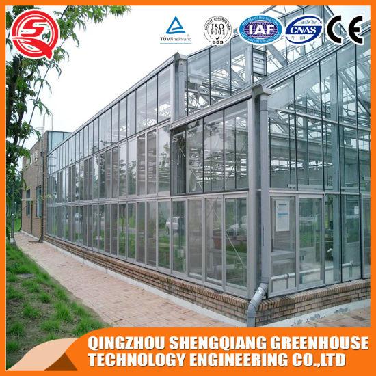Commercial Aulminum Profiles Vegetable/Garden/Flower Glass Green House
