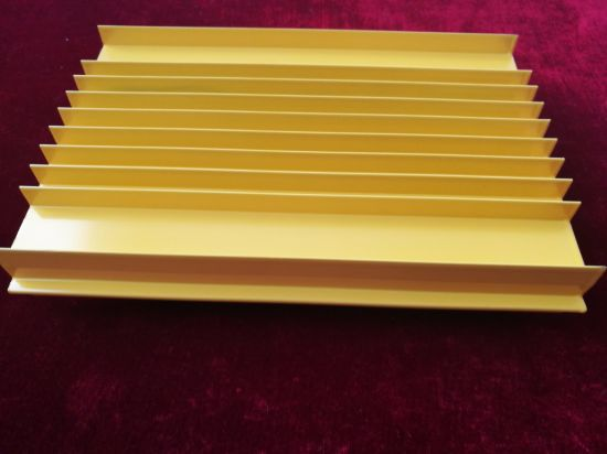 Powder Coated Yellow Aluminum Extrusion Profile pictures & photos