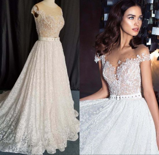 Custom Fashion Ladies Girl Fashion Lace Beaded Bridal Gown Evening Prom Evening Wedding Dress CZ5506 pictures & photos