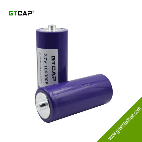 China GTCAP large capacitance supercapacitor 2 7V 100000f for back