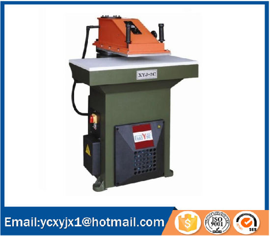 Hydraulic Swing Arm Gloves Cutting Machine with Ce Certificate