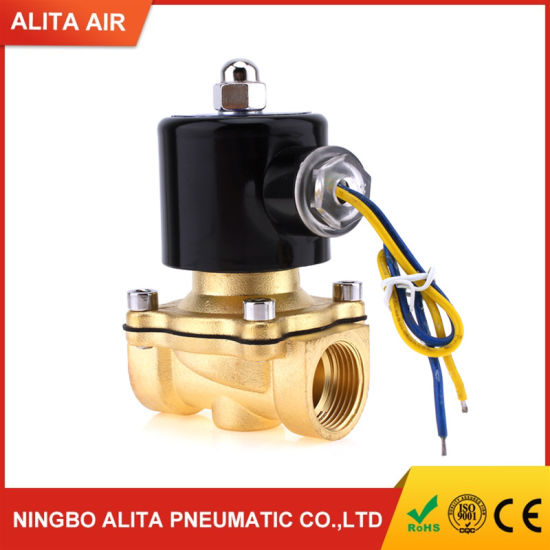 Electric Brass Valve Normally Closed Air Solenoid Valve