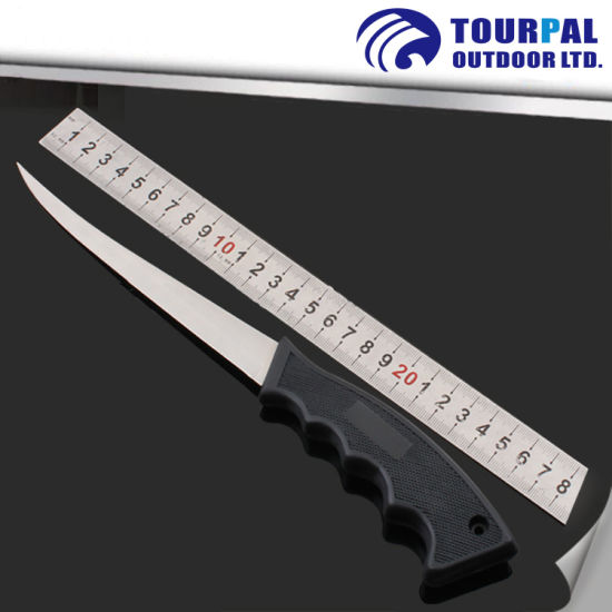 3cr14 Stainless Steel Blade and PVC Handle Fishing Knife