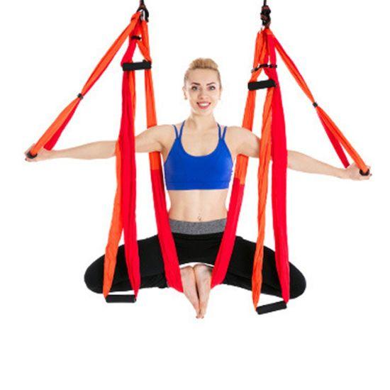 China Ultra Strong Yoga Hammock Yoga Exercises Hammock With Extensions Straps China Yoga Exercises Hammock And Yoga Training Hammock Price