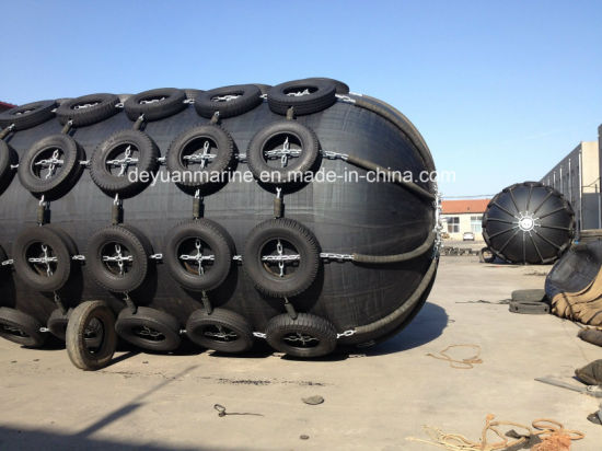 Pneumatic Rubber Fender with Tires and Chains Complete Set with Very Competitive Prices pictures & photos