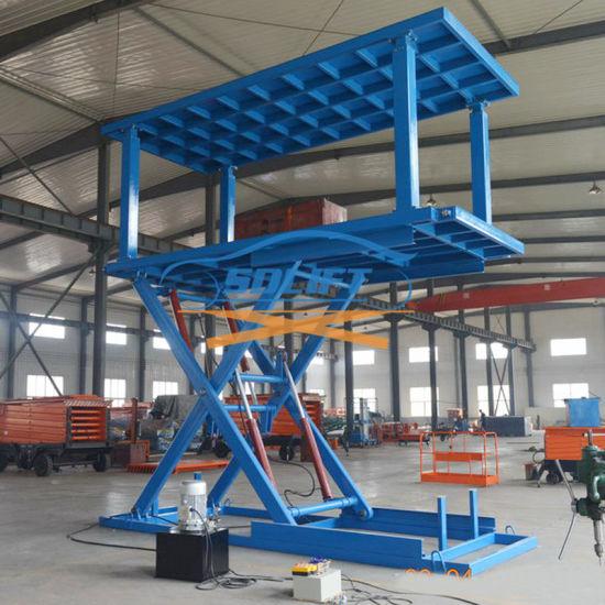 5t 3m in Floor Scissor Type Car Double Layer Lift / Garage Car Lift System