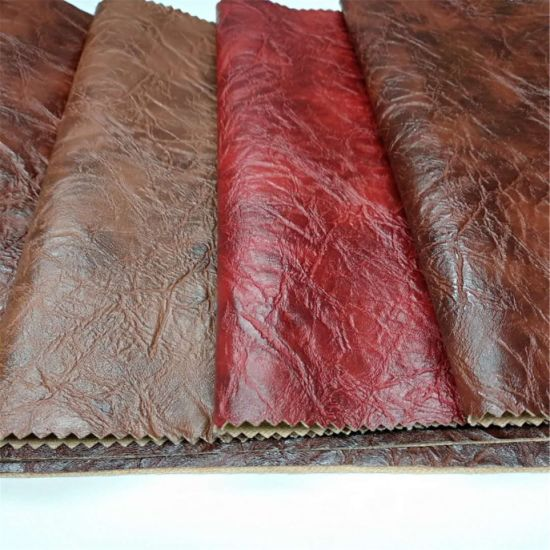 Embossed Leather Artificial Imitation PU Leather as Bark Fabric for Sofa/Furniture