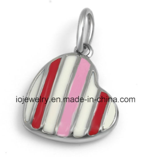 Surgical Steel Jewelry Enamel Heart Charm for Kids and Girls