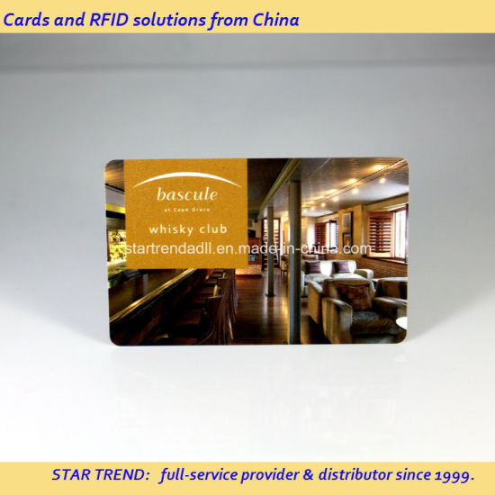 Metallic Gold Printing PVC Magnetic Stripe Card for VIP Membership pictures & photos