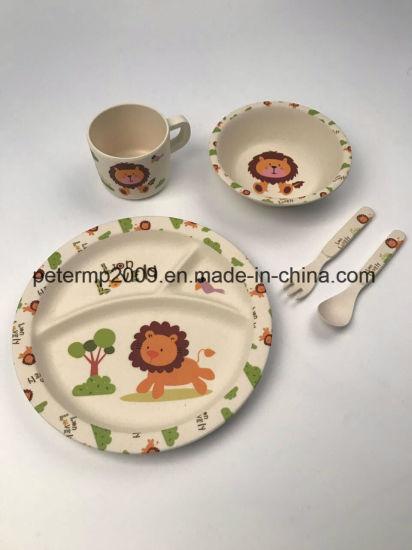 Food Safe Unbreakable Bamboo Fiber Kids Dinnerware Set & China Food Safe Unbreakable Bamboo Fiber Kids Dinnerware Set - China ...