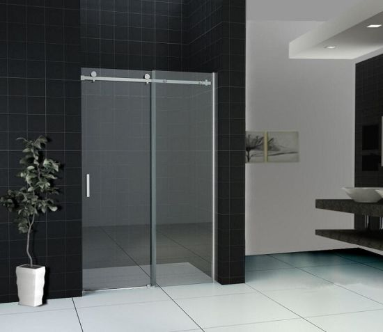 Corner Chrome Sliding Bath Cabin Shower Enclosure pictures & photos