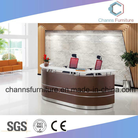 New Arrival Wooden Reception Desk Modern Furniture Office Table Counter