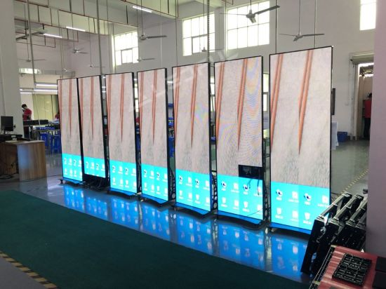 Easy Moving Multiple Installation Poster LED Display for Shopping Center (LPoster-2.5 plus)