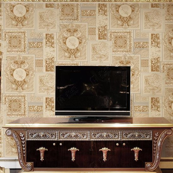 China Tv Background Wall Coating Wall Paper Design Pvc 3d Wallpaper