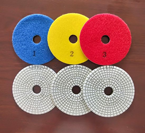 3 Step Wet/Dry Diamond Polishing Pad for Granite/Marble/Concrete/Other Natural and Engineer Stone
