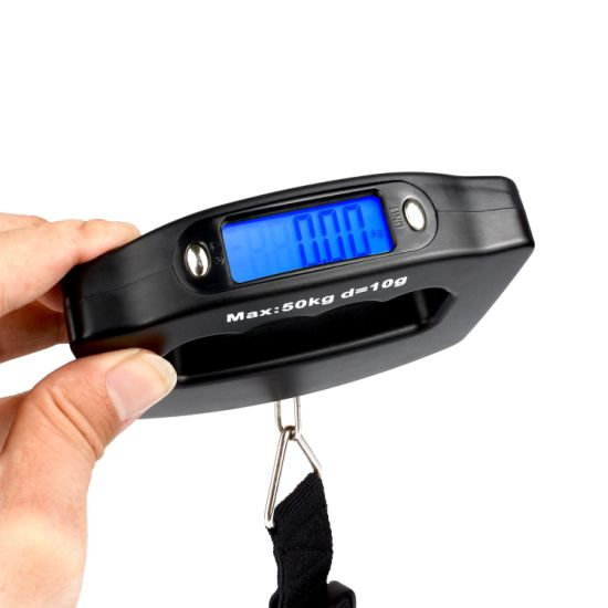 Mini Handheld 50kg/10g LCD Digital Fishing Hanging Electronic Pocket Scale