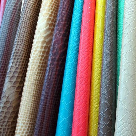 PVC PU Rexine Material Synthetic and Faux Leather pictures & photos