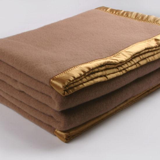 70% Wool 30% Acrylic Hotel Blanket, Wholesale Warm Wool Blankets