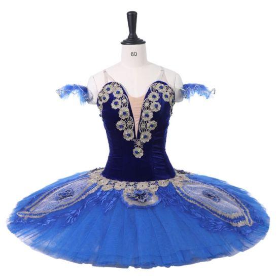 0da2c9c9c5b38 New Coming Women Adult Performance Wear Ballet Dance Costumes Blue  Professional Tutu