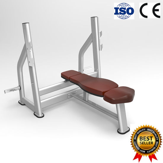 Ce Certificated Olympic Flat Bench Form China Supplier Gym Fitness Equipment
