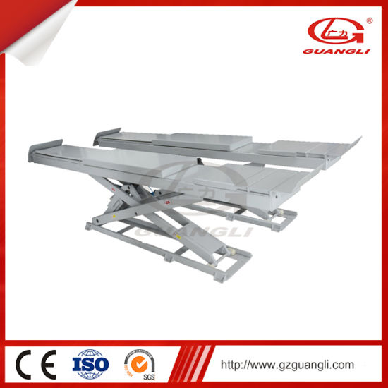 Guangli Ce Approved Auto Scissor Car Lift for Service Station