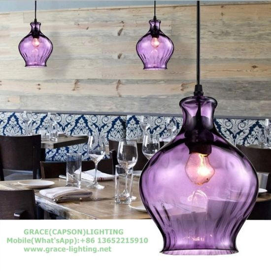 Colorful Glass Bottle Pendant Light for Restuarant (GD-640-1ABC) pictures & photos