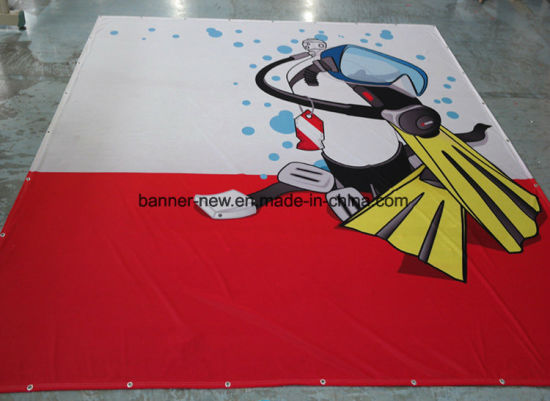 Shiny Full Color Polyester Fabric Banners (SS-SF-90) pictures & photos