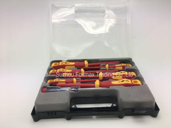 GS 7 PCS Electrician Screwdriver Set VDE with TPR/Rubber Handle