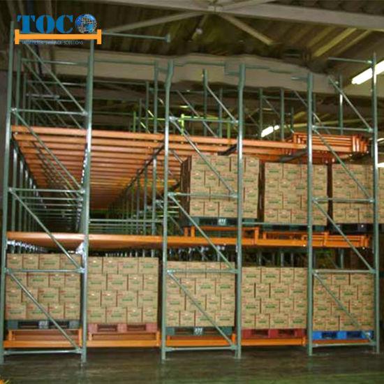 Top China Supplier Adjustable Push Back Storage Rack for Beverages