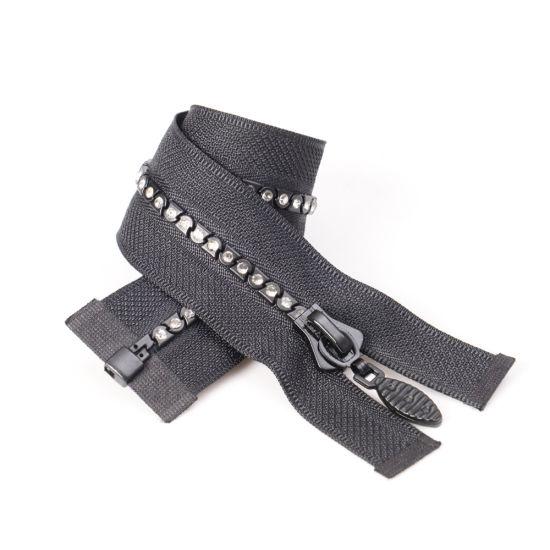 No. 5 5# Plastic Diamond Zipper O/E