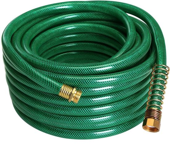 """5/8"""" PVC Garden Hose with Brass Couplings. for The American Market."""