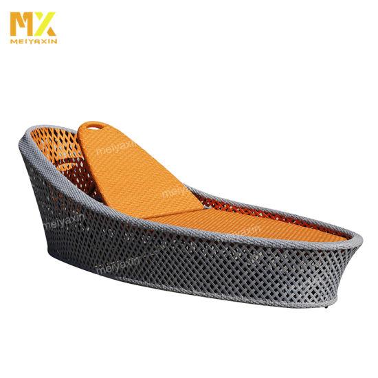 Meiyaxin Wicker Rattan Beach Sun Lounger Chair (accept customized)
