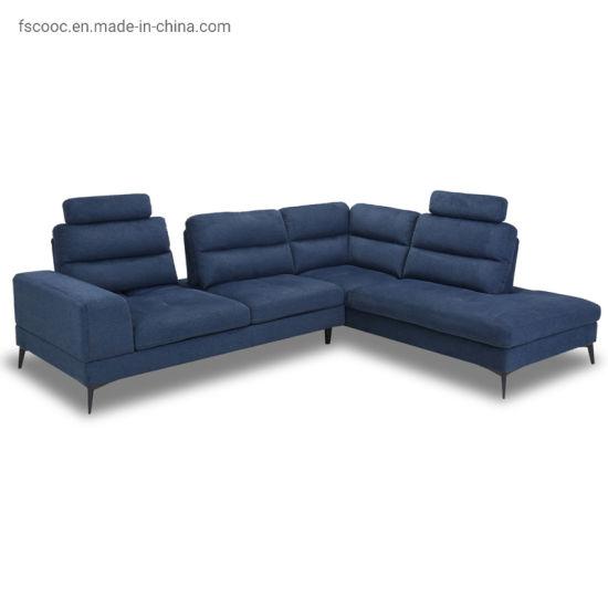 Factory Wholesale Living Room Furnituretop Leather Sofa L-Shaped Sofa