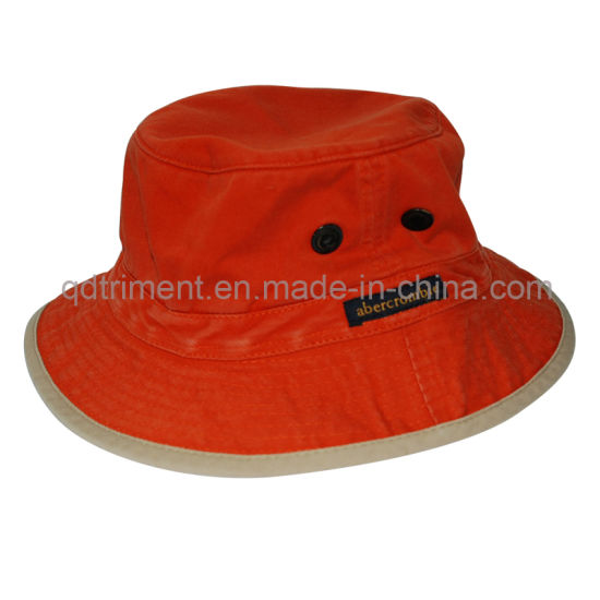 3130543cc1ed9 Washed Contrast Binding Twill Sport Fishing Bucket Hat (TRBH016) pictures    photos
