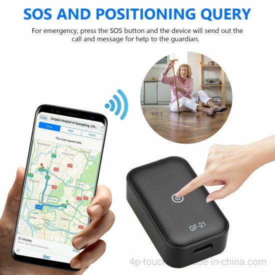 GF21 Mini Portable Sos Button GPS Tracker Agps+Lbs+WiFi Real-Time Tracking
