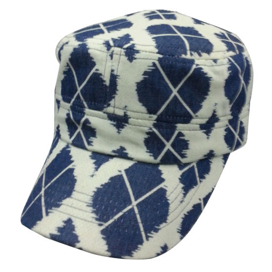 Hot Sale Army Cap with Designed Fabric Mt12 pictures & photos