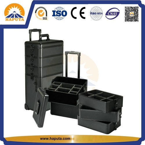 Functional Trolley Makeup Cosmetic Box for Salon (HB-3305) pictures & photos