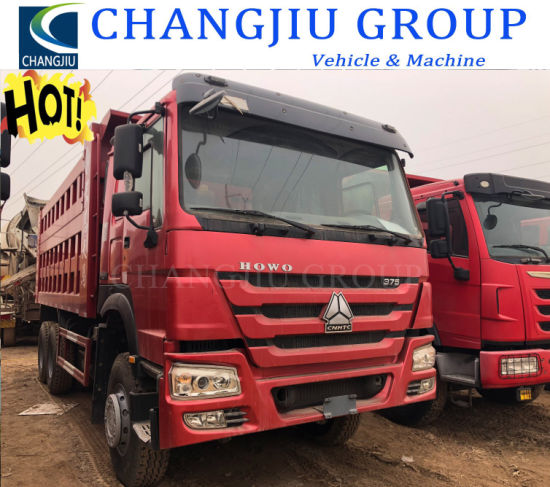 Excellent Quality 371HP 6X4 Left Hand Drive Sinotruk HOWO Used Dump Trucks for African Market