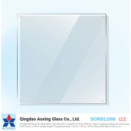 Mirror Glass Sheet With Holes Polished Edges